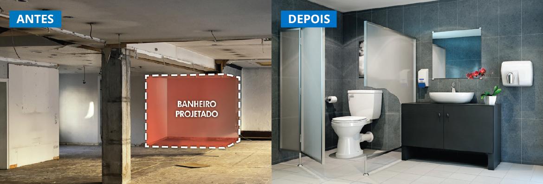 Instale um novo banheiro ou cozinha em até 24h