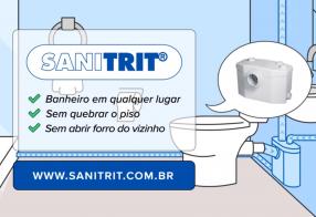 Como instalar o triturador sanitário Sanitrit?